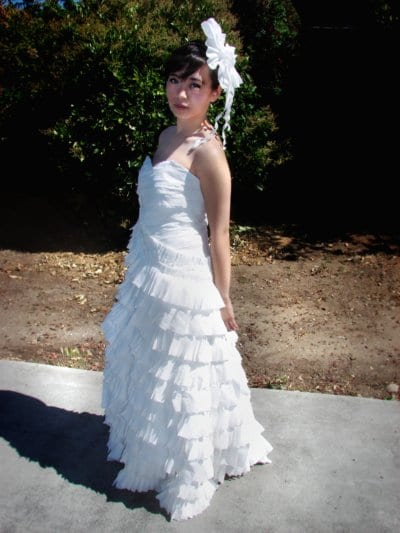 Toilet Paper Wedding Dress Design