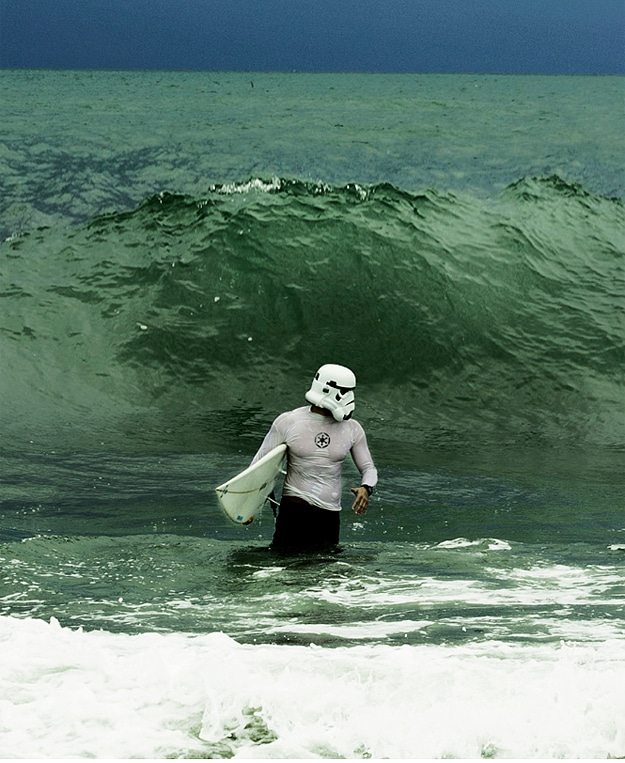 The Surfing Trooper: A Sexy Stormtrooper On Vacation