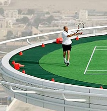 Scary & Spectacular: World's Highest Tennis Court