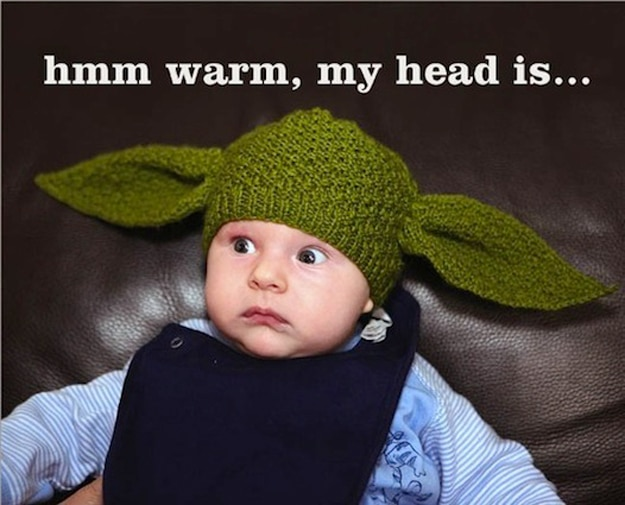 Knitting Patterns Baby Novelty Hats : The Yoda Baby Hat: Wear or Wear Not