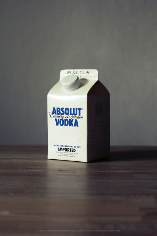 Alcohol Milk Carton Packaging Design