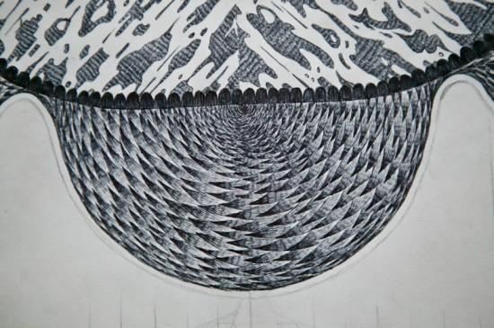 Biro Pencil Illustration Carpet Design