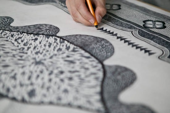 Biro Pencil Illustration Carpet Design