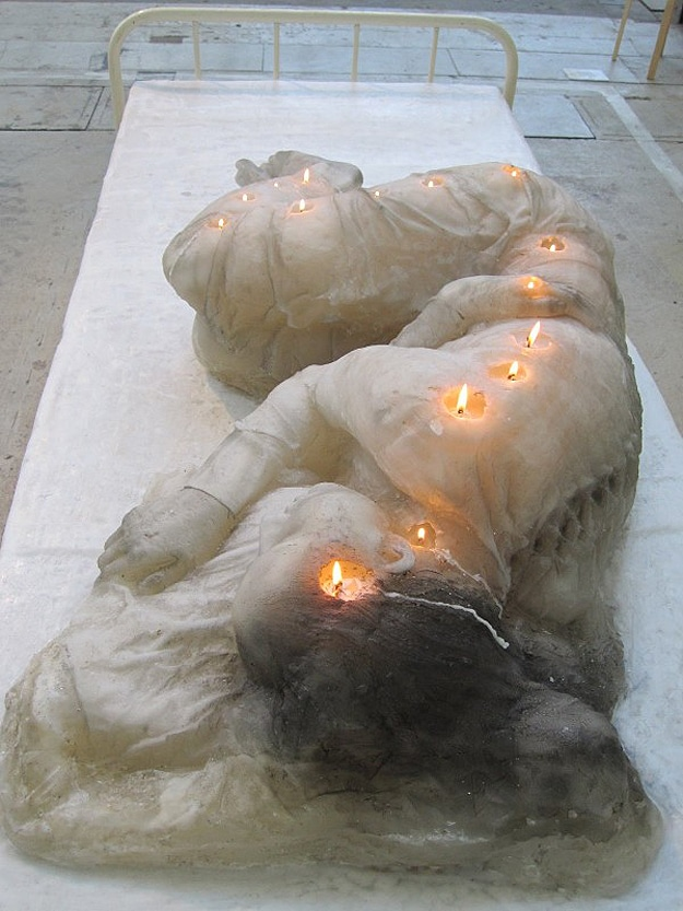 Woman Made Out Of Candles
