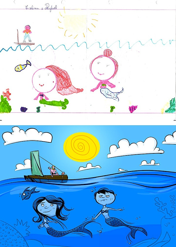 Kids Sketches Redesigned By Artist