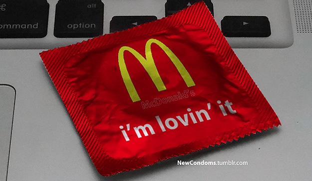 McDonald's Lovin It Condom