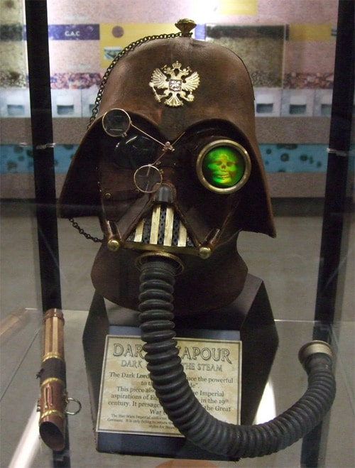 Darth Vapour Leather Steampunk Helmet