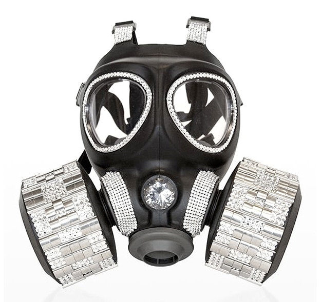 Diamond Encrusted Gas Mask