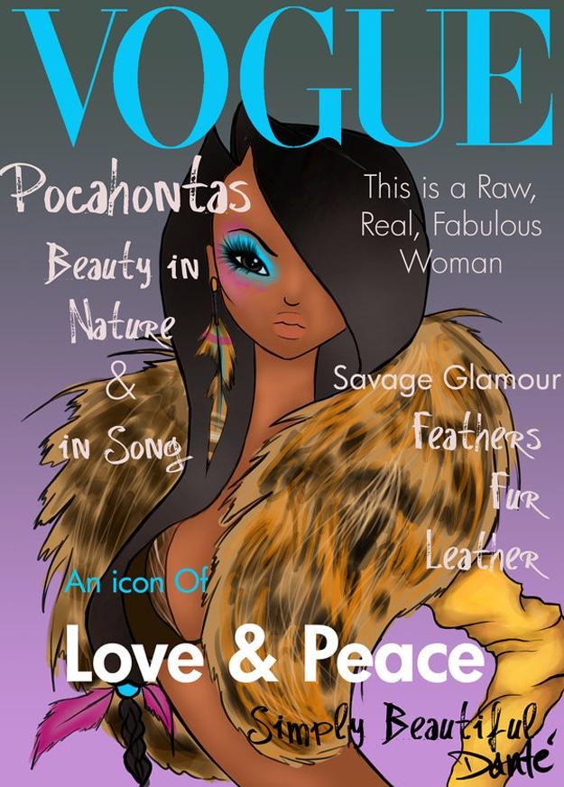 Pocahontas As A Supermodel