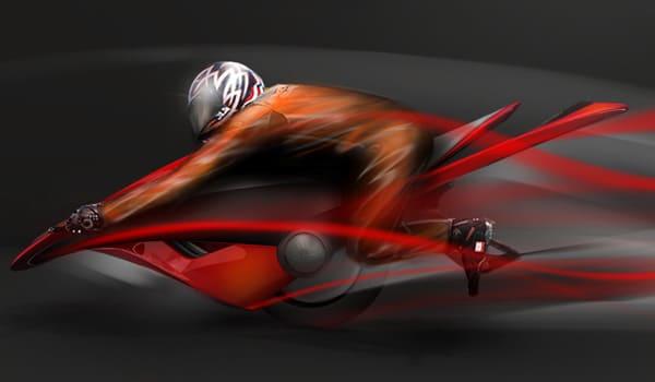 Dyke Bike Mono Wheel Motorcycle