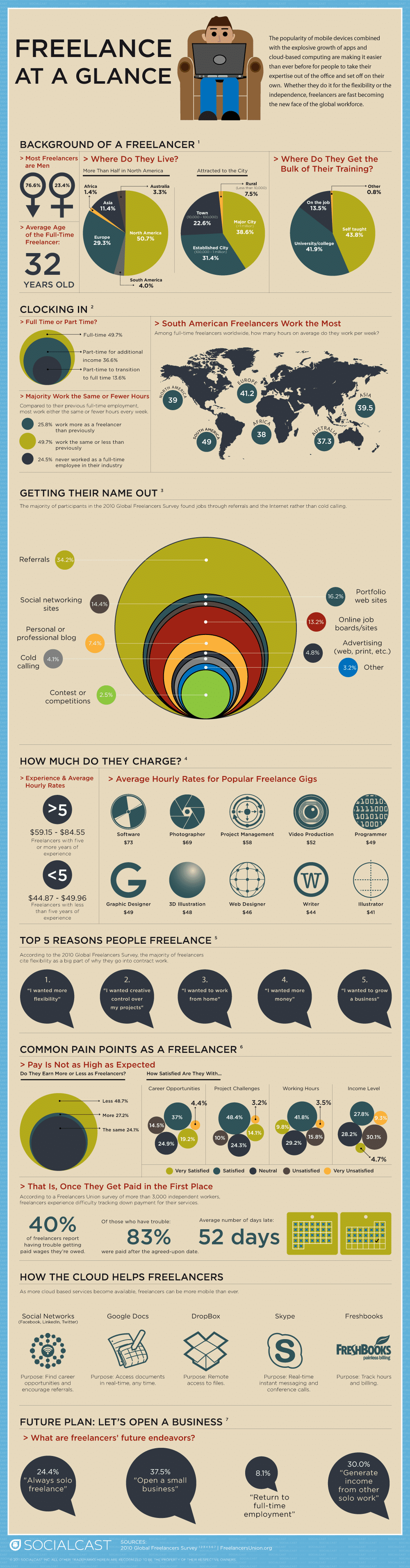 Freelance At A Glance Infographic