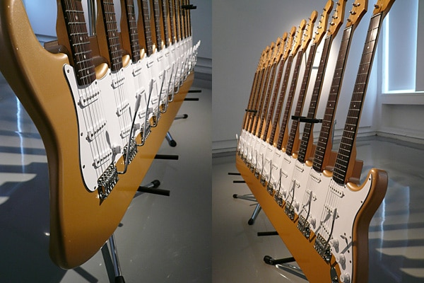 Fused Guitar Sculpture Artwork Design