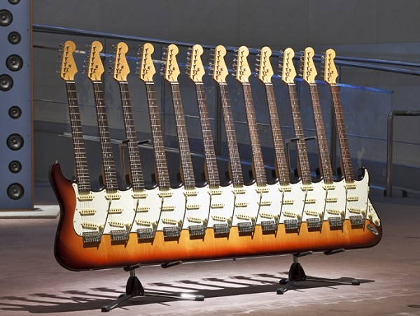 Fused Guitar Sculpture Artwork Design