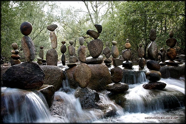 Nature Rocks Stacked Together