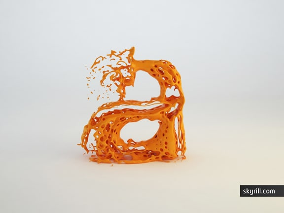 Liquid Letters As Typography Fonts