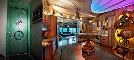 Manhattan Steampunk Interior Design Apartment