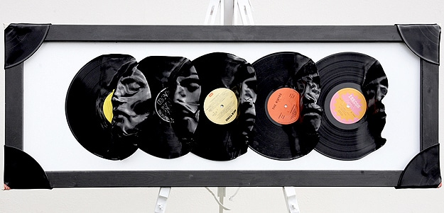 Heated Plastic Retro Record Designs
