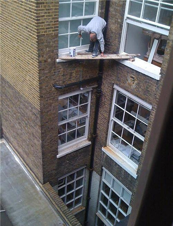 Dangerous Working On Building