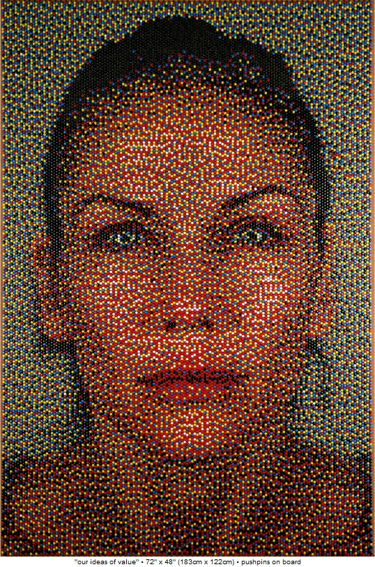 Push-Pin Art: Amazingly Realistic Portraits