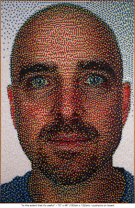 Push-Pin Portrait Artwork On Board