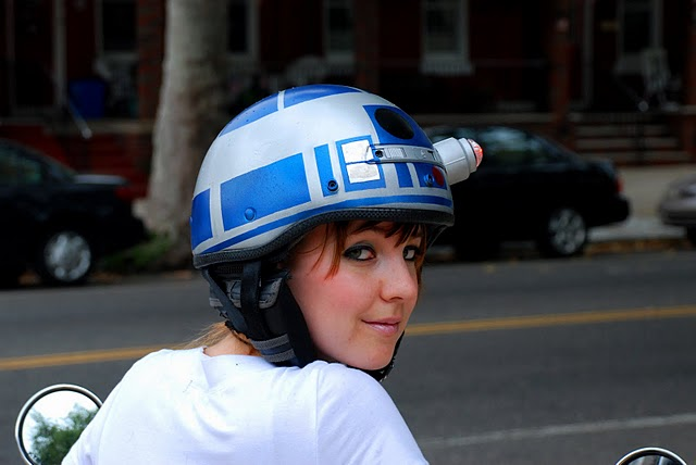 R2-D2 Bicycle Helmet Mod Design