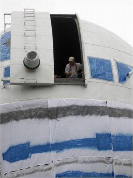 R2-D2 Observatory Dressup Student Prank