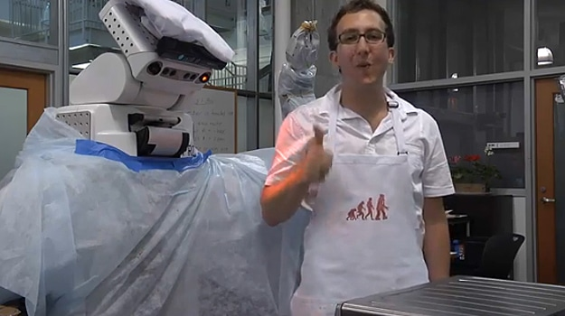 Chef Robot Follows A Recipe