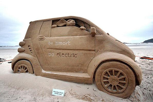 Sand Castle Smart Car Beach