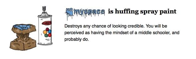 Myspace Social Site Addict