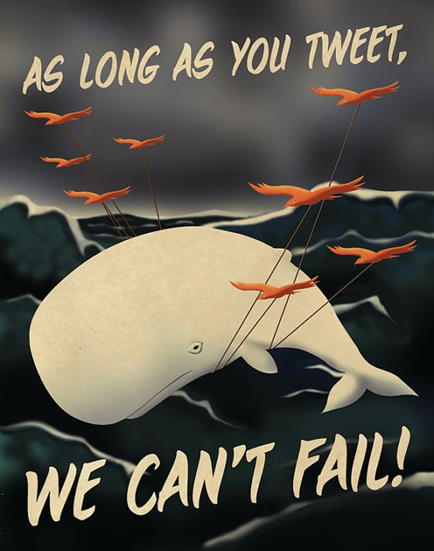 Twitter Fail Whale Illustration