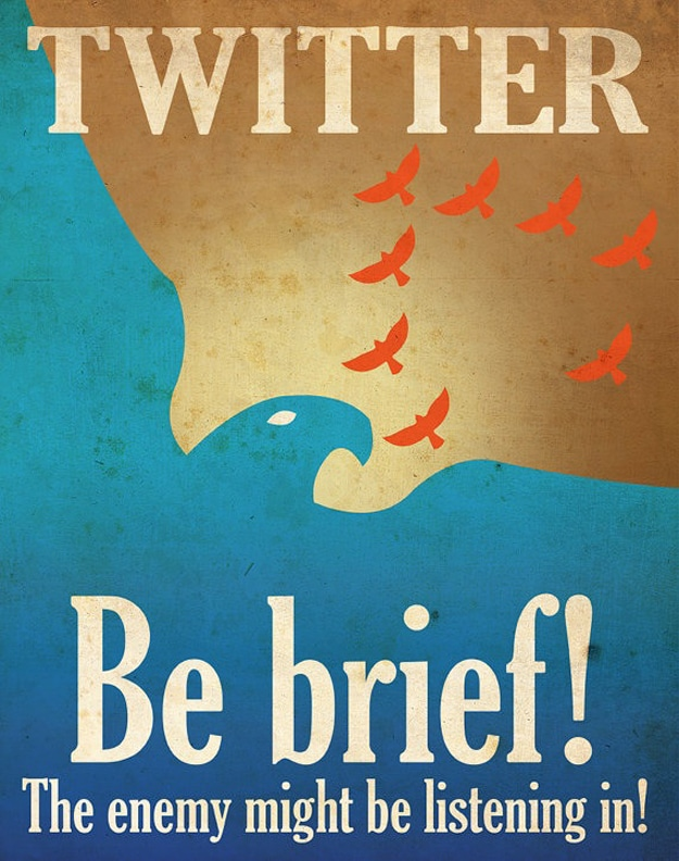 Twitter Be Brief Illustration