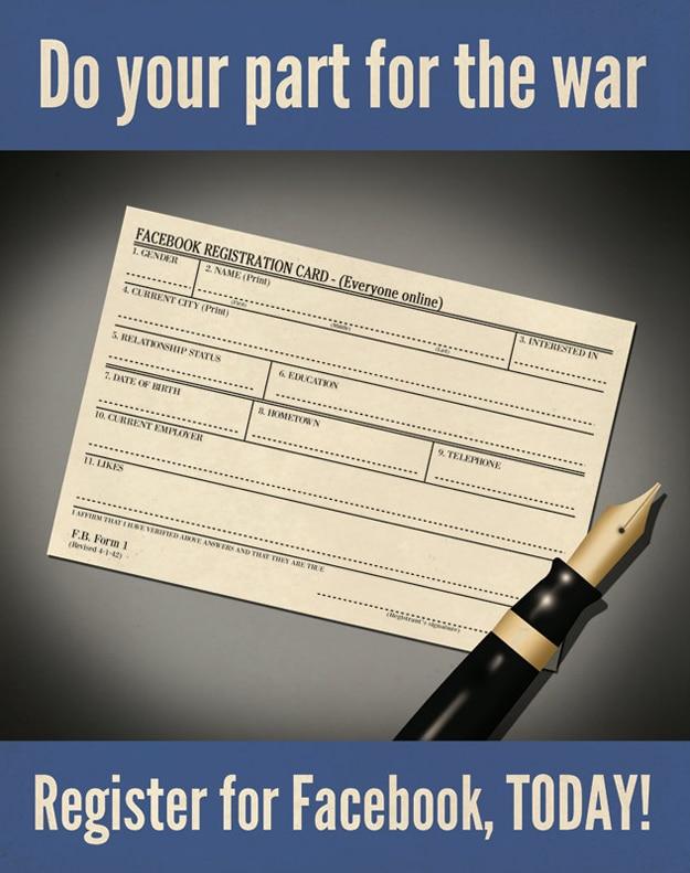 Facebook Sign Up Notecard Illustration