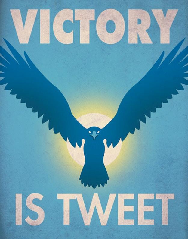 Victory Is Tweet Fun Illustration