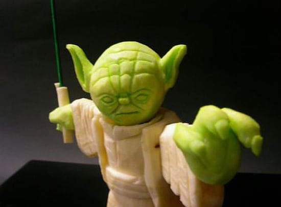 Yoda Carved From Vegetables