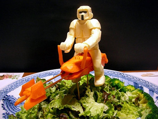 Stormtrooper Created From Vegetables