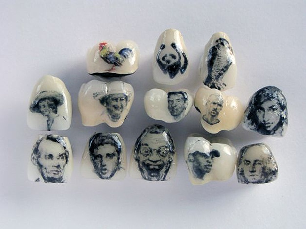 Historical Figures On Tooth Tattoo