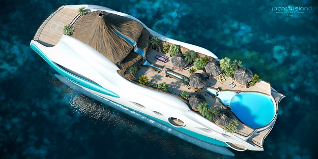 Wow! An Entire Tropical Island Built On A Yacht