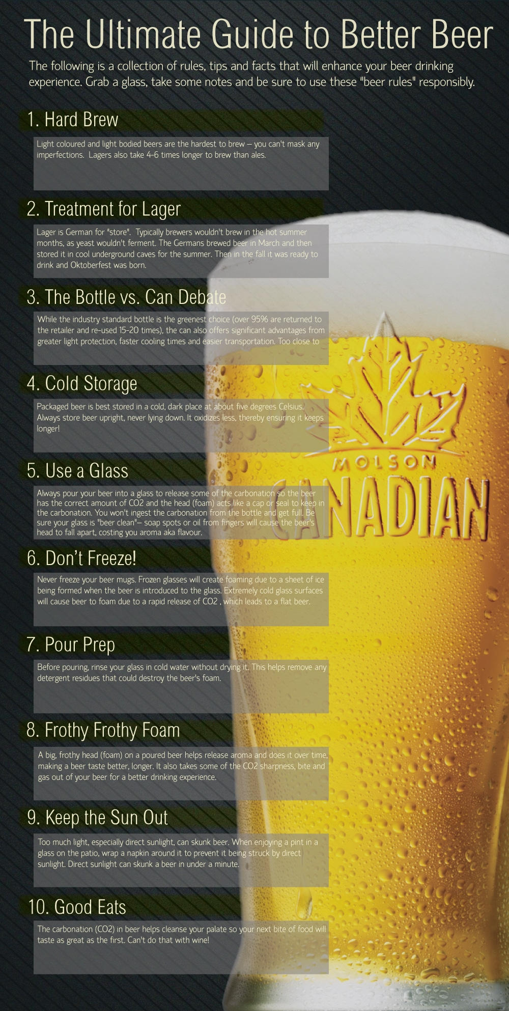10 Tips: Ultimate Guide To Better Beer [Infographic]