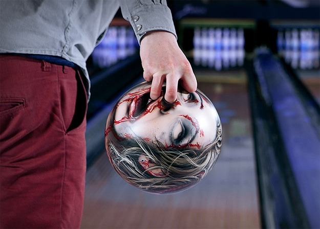 Severed Zombie Head Bowling Ball Designs