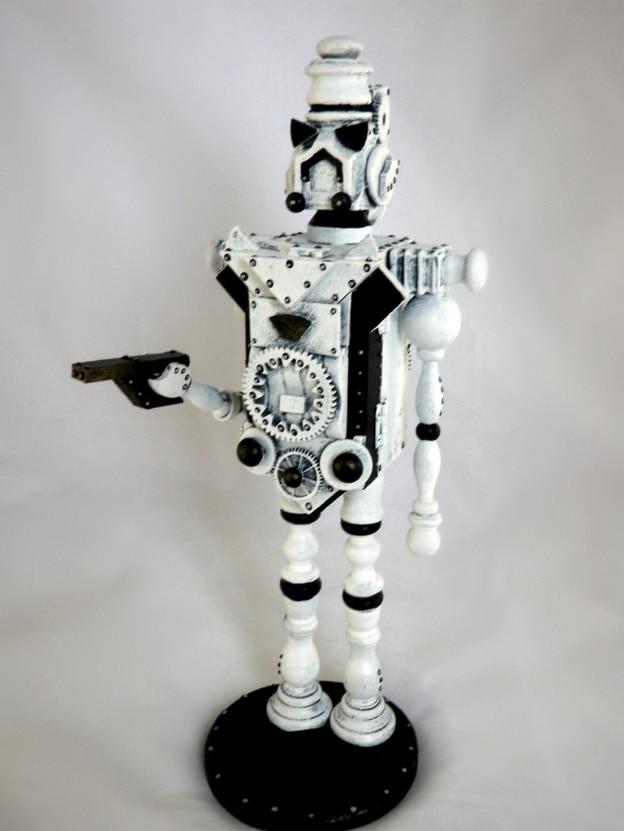 1921 Steampunk R2-D2 Robot Design