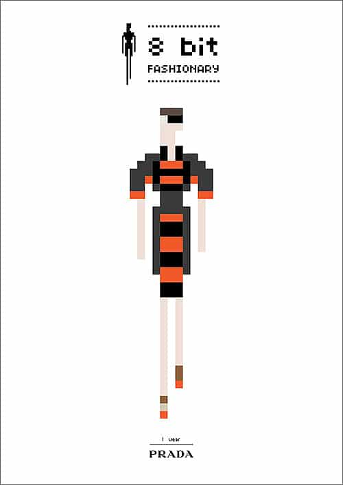 Geek Prada Dress Style Illustration