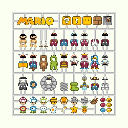 8-bit Click-out Character Set Designs