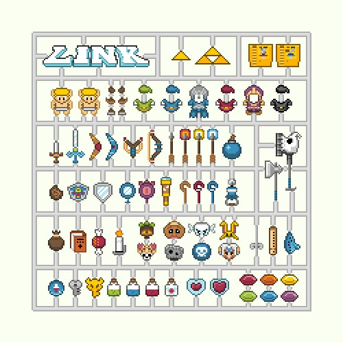 8-bit Click-out Character Set Designs