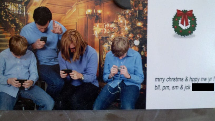 A Modern Day Christmas Card: A Clear Shift In Focus