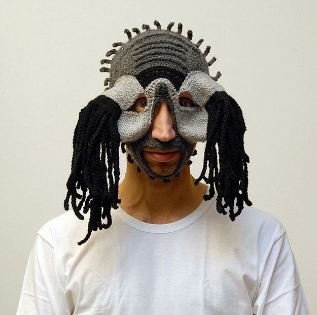 10 Crazy Creepy Crocheted Masks