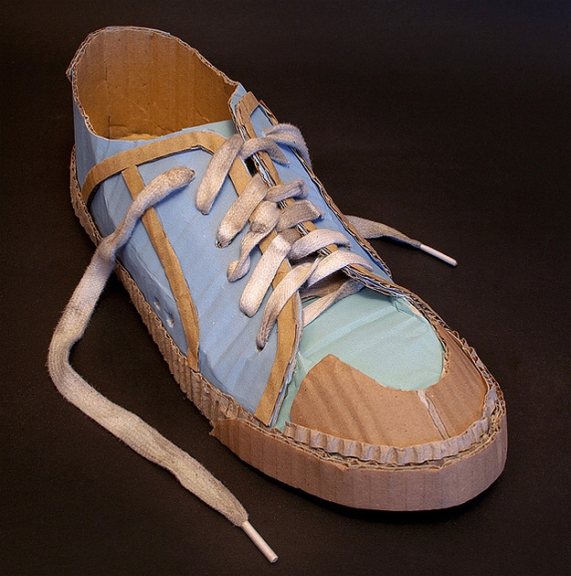 Stylish Shoes Molded From Recycled Cardboard