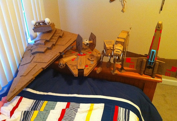 Cardboard Star Wars Space Ships