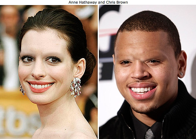 Chris Brown WIth No Eyebrows