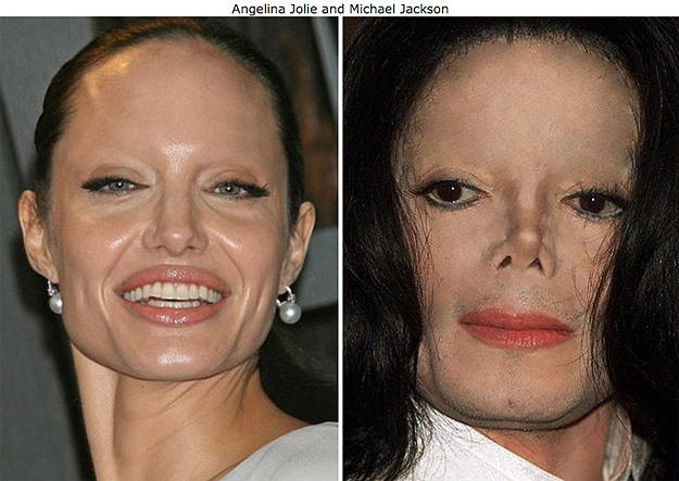 Michael Jackson Angelina Jolie Eyebrows