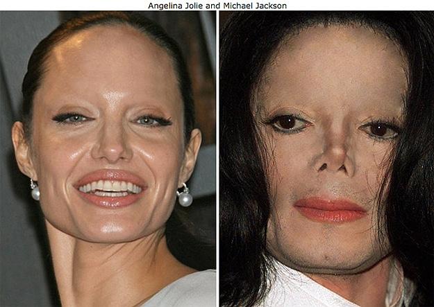 Michael Jackson Angelina Jolie Eyebrows